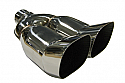 """TAIL PIPE Twin 3.5"""" Square DTM Twin 90mm x 85mm Square DTM on a Y. 57mm Inlet. 285m Length. 190mm Toal width."""