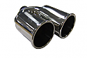 """TAIL PIPE Twin 3.5"""" (85mm) Staggered Out roll on Y"""