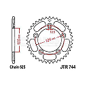 744-36 REAR SPROCKET CARBON STEEL