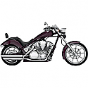 HONDA VT1300CX FURY, VT1300CX ABS FURY, VT1300CT INTERSTATE, VT1300CS SABRE, VT1300CR STATELINE 2010-2016 MUFFLER TWIN SLASH CHROME