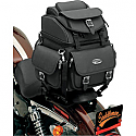 SADDLEMEN DRESSER BACK SEAT SISSY BAR BAG SYNTHETIC LEATHER BLACK - BR1800EX