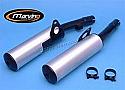 Kawasaki GPZ600R Silencers - Original Style - Black & Aluminuim
