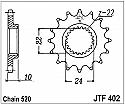 402-16 FRONT SPROCKET CARBON STEEL