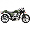 "TRIUMPH THRUXTON 865 CARB, TRIUMPH THRUXTON 865 EFI 2004-2016 MUFFLER 4"" POLISHED W/ BLACK END CAP"