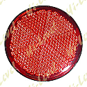 STICK-ON REFLECTOR RED ROUND OD 66MM