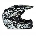 RSX13 Craze BLACK/SILVER Kids MX Helmet