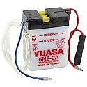 MOTORCYCLE BATTERY 6N2-2A BUDGET 6V
