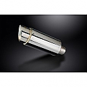DELKEVIC EXHAUST SILENCER WITH REMOVABLE BAFFLE 200mm ROUND STAINLESS STEEL