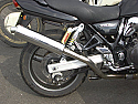"SUZUKI GSX750W,X (97-ON JS1AE) MODELS ROAD 5"" SILENCER IN BRUSHED STAINLESS WITH R/ BAFFLE"