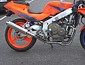 HONDA CBR400 RRJ/K TRI-ARM Downpipes & collector