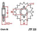 339-16 FRONT SPROCKET CARBON STEEL