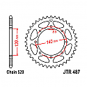 487-46 REAR SPROCKET CARBON STEEL