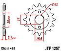 1257-15 FRONT SPROCKET CARBON STEEL