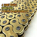 520HDO-100 LINK SSS O'RING DRIVE CHAIN (GOLD)