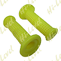 """GRIPS SMALL DIMPLE YELLOW TO FIT 7/8"""" HANDLEBARS"""