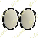 KNEE SLIDERS WHITE WITH SUEDE AND VELCRO BACKING