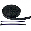 "CYCLE PERFORMANCE WRAP KIT EXHAUST 1"" X 50' WITH TIE BLACK/BLACK"