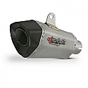 XP10 TITANIUM LOOK HEXAGONAL EXHAUST SILENCER 51MM INLET