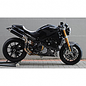 DUCATI MONSTER 800 S2R, MONSTER 800 S2R DARK, MONSTER 1000 S2R, MONSTER 1000 S4R 2003-2008 ROUND MUFFLERS CARBON HIGH-UP