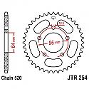 254-37 REAR SPROCKET CARBON STEEL