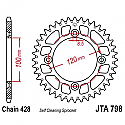 798-47 REAR SPROCKET CARBON STEEL