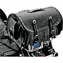 ALL AMERICAN RIDER RACK BAG TRAVELER LARGE RIVET CONCHOS FRINGES BLACK