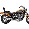 "HONDA VT1100C SHADOW, HONDA VT1100C SHADOW SPIRIT 1989-2007 EXHAUST SYSTEM 2"" DRAG PIPE SLASH CUT CHROME"