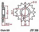 308-15 FRONT SPROCKET CARBON STEEL