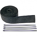 """CYCLE PERFORMANCE WRAP KIT EXHAUST 2"""" X 25' WITH TIE BLACK/BLACK"""