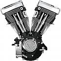 H/D FLH, FLHT, FLT, FLST, FLTR, FXD, FXR, FXS, S&S ENGINE V80 BLACK