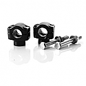 "TRIUMPH STREET TWIN 900, STREET TWIN 900 ABS, BONNEVILLE 865, BONNEVILLE 865 SE, SCRAMBLER 865 2006-2018 BRITISH CUSTOMS HANDLEBAR CLAMP 7/8"" ALUMINIUM BLACK GLOSS ANODIZED"