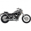 "SUZUKI VS1400GLF INTRUDER, SUZUKI VS1400GLP INTRUDER 1987-2004 EXHAUST STEEL 2"" DRAG PIPE SLASH CUT CHROME"