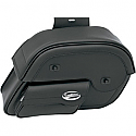 SADDLEMEN SADDLEBAG UNIVERSAL THROW-OVER SLANT BLACK