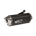 DUCATI HYPERMOTARD 821, HYPERMOTARD 21 ABS, HYPERMOTARD 821SP ABS, STRADA 821 2013-2015 FORCE SLIP-ON MUFFLER CARBON STD MOUNT