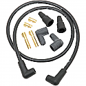 """H/D SPARK PLUG WIRES 8.8MM UNIVERSAL 102 CM (40"""") WIRES W/ 180° AND 90°BOOTS"""