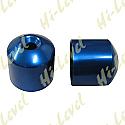 HONDA CBR400RR BAR END COVER BLUE