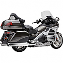 HONDA GL1800 GOLDWING, GL1800 GOLDWING AUDIO COMFORT, GL1800 ABS GOLDWING, GL1800 ABS GOLDWING AIRBAG 2012-2017 COBRA 6 INTO 6 SLIP ON MUFFLERS CHROME