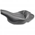 HARLEY DAVIDSON FLHT, FLTR SOLO SEAT DOMINATOR FRONT VINYL|SADDLEGEL™|GEL CHANNEL™ CARBON LOOK