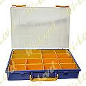 PLASTIC CONTAINER, TRAY 14 COMPARTMENTS 340MM x 250MM