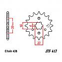 417-14 FRONT SPROCKET CARBON STEEL