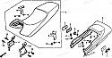 Saddle Lock Original for Honda VF400 '83 and VF500 '85, 77240KE7 lever seat.