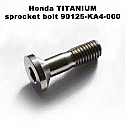 90125-KA4-000, SCREW, FLAT, 8X31, Honda