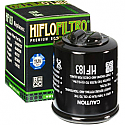 DERBI GP1 125, GP1 150, BOULEVARD 125, SONAR 125, SONAR 150, RAMBLA 125, RAMBLA 250, RAMBLA 300i 2003-2013 OIL FILTER SPIN-ON REPLACEMENT CARTRIDGE WITH SLOT BLACK
