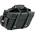 ALL AMERICAN RIDER SADDLEBAG SLANT BOX DETACHABLE EXTRA LARGE PLAIN BLACK