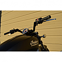 "INDIAN SCOUT 69 ABS, INDIAN SCOUT 69 ABS BOBBER, INDIAN SCOUT 60 ABS SIXTY 2015-2018 TRASK HANDLEBAR V-LINE 1-1/4"" STEEL BLACK"