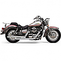 KAWASAKI VN1500 VULCAN CLASSIC, VN1500 VULCAN MEAN STREAK, VN1600 VULCAN MEAN STREAK 1996-2008 EXHAUST SYSTEM DRAGSTER 2 INTO 2 STRAIGHT-CUT CHROME