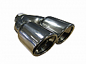 "TAIL PIPE Twin 3"" Slash Cut Rolled inTwin 3"" Slash Cut Rolled in. 155mm total width, 225mm long, 56mm inlet"