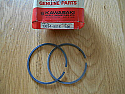 Kawasaki,13024 5016, Piston ring set for one piston 2nd OS, KE125 A7-A11,