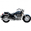 "HONDA GL1500C F6C, HONDA GL1500C VALKYRIE 1997-2003 EXHAUST SYSTEM 2"" DRAG PIPE SLASH CUT CHROME"