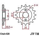 736-15 FRONT SPROCKET CARBON STEEL